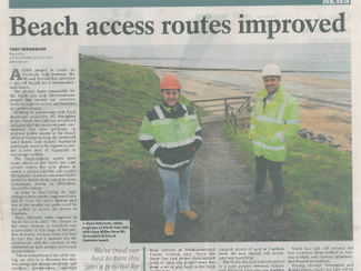 Improving Access at Cambois Beach