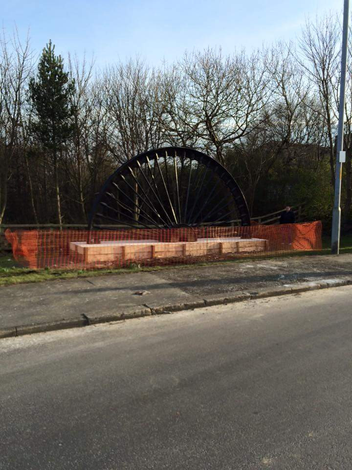 Erection of Lynemouth Pit Wheel to celebrate the mining heritage of the area.  The old pit wheel was removed, repaired, stripped back and repainted before transporting and returning it back to its rightful position in Lynemouth.