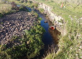 River Erosion Installation