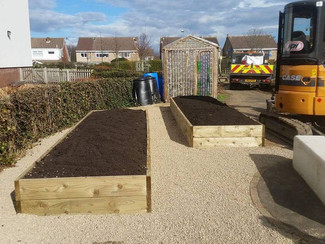 Greenleaf 'Black Beauty' Compost - at a Northumberland Primary School