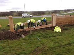 Timber Goyne Fence