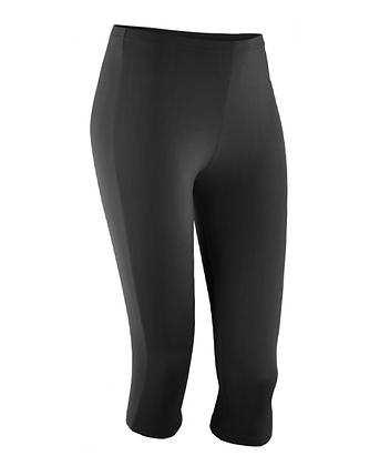 Black Softex 3/4 Stretch Leggings