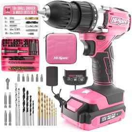 HI-Spec 58 Piece 18V Drill & Multi bit set