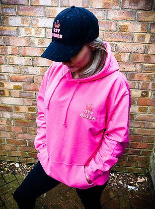 DIY Queen Lollipop Pink Oversized Logo Hoodie
