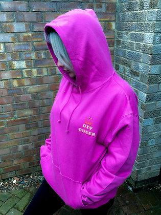 DIY Queen Crimson Pink Oversized Logo Hoodie