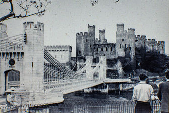 Conway Bridge and Castle, 1938.