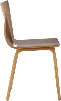 V Chair in walnut