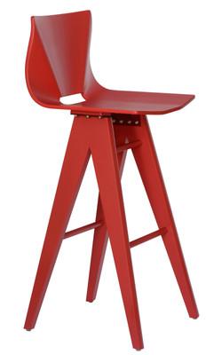 V Bar Stool red