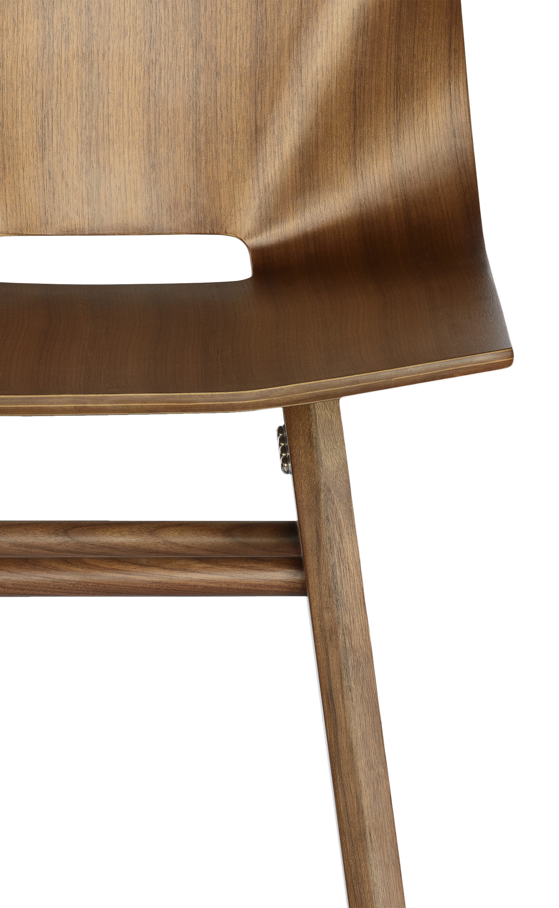 V Bar Stool walnut