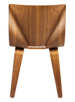 V Wide Chair in walnut