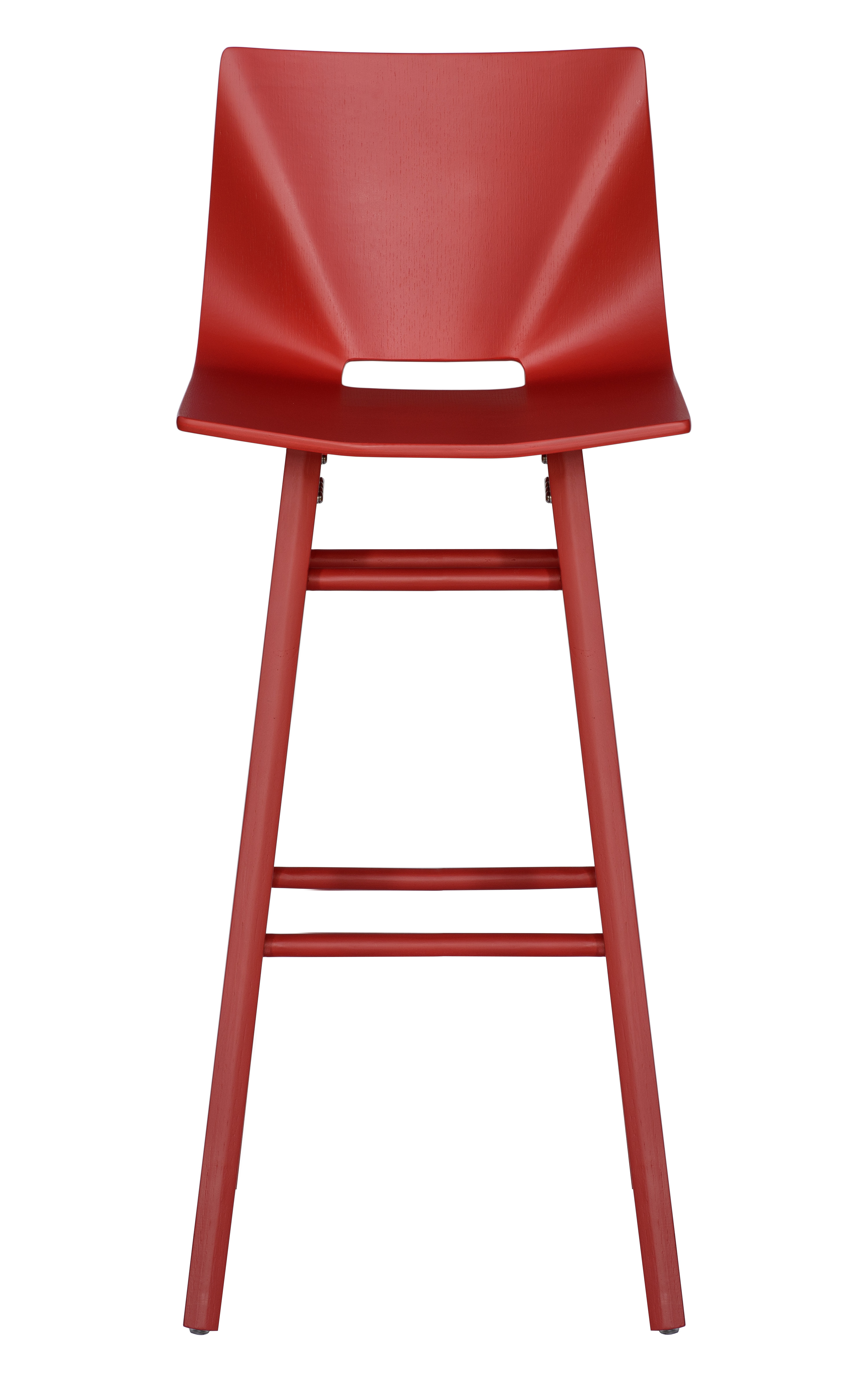 V Bar Stool red