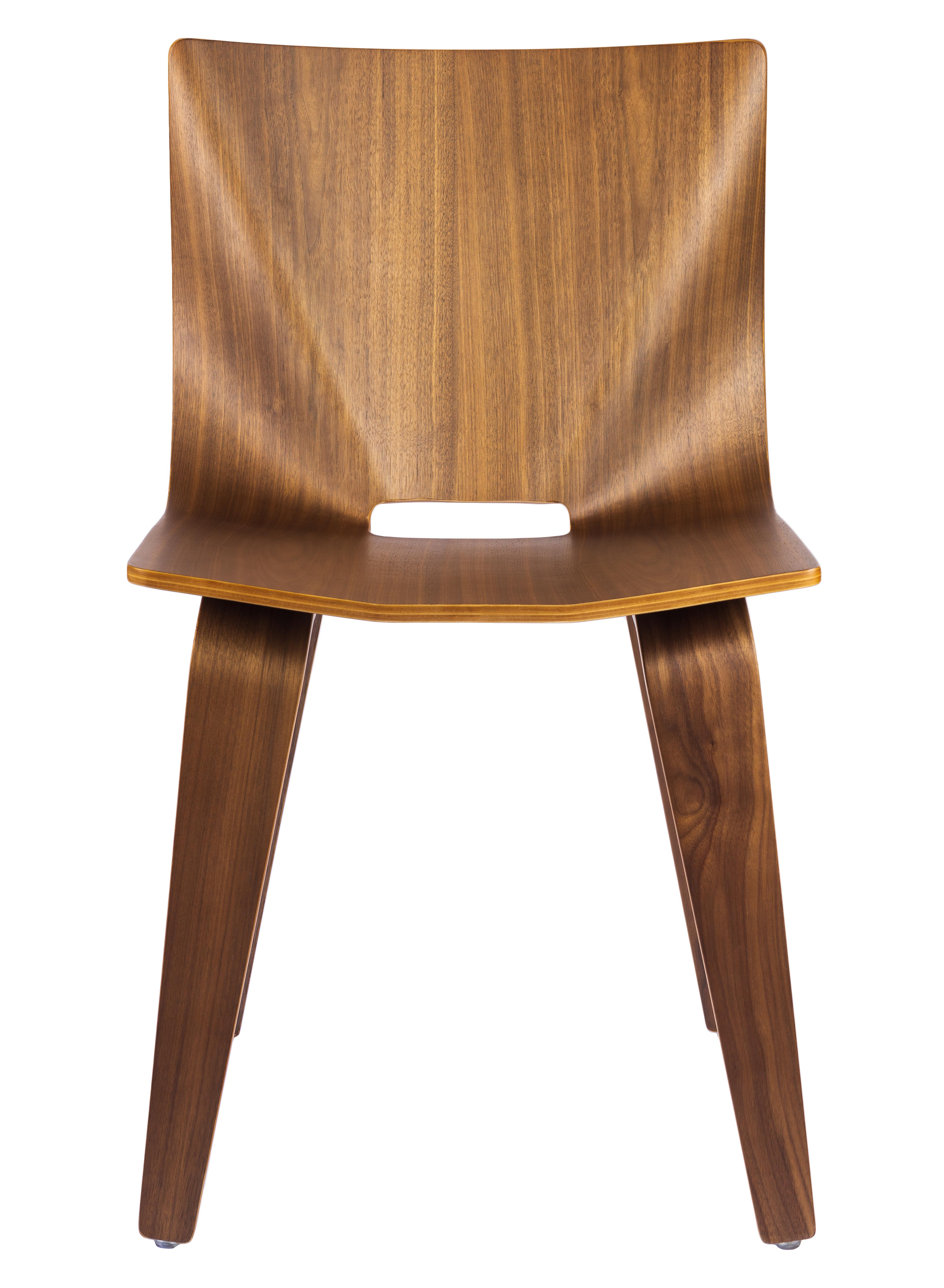 V Wide Chair in walnut