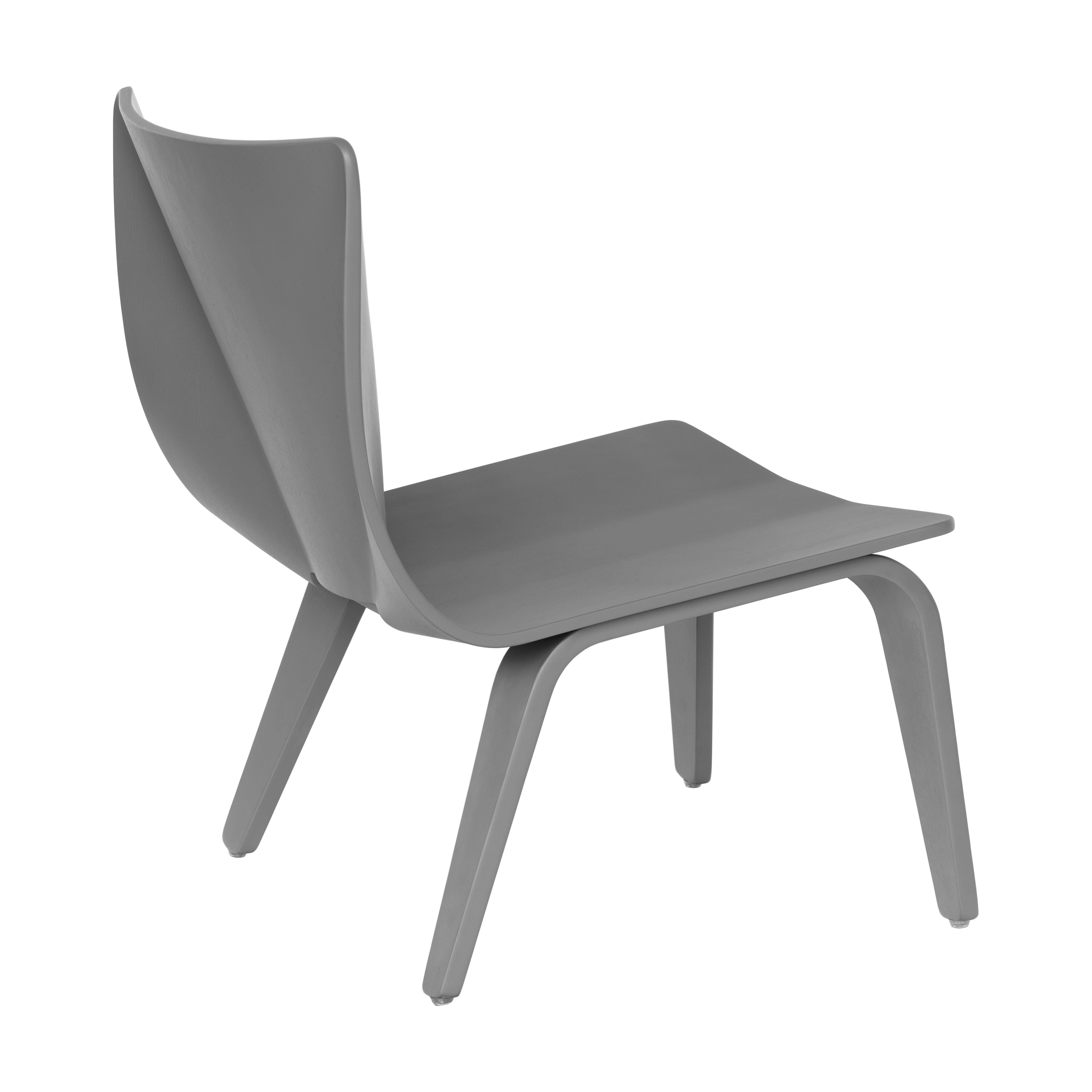 V Lounge Chair in grey