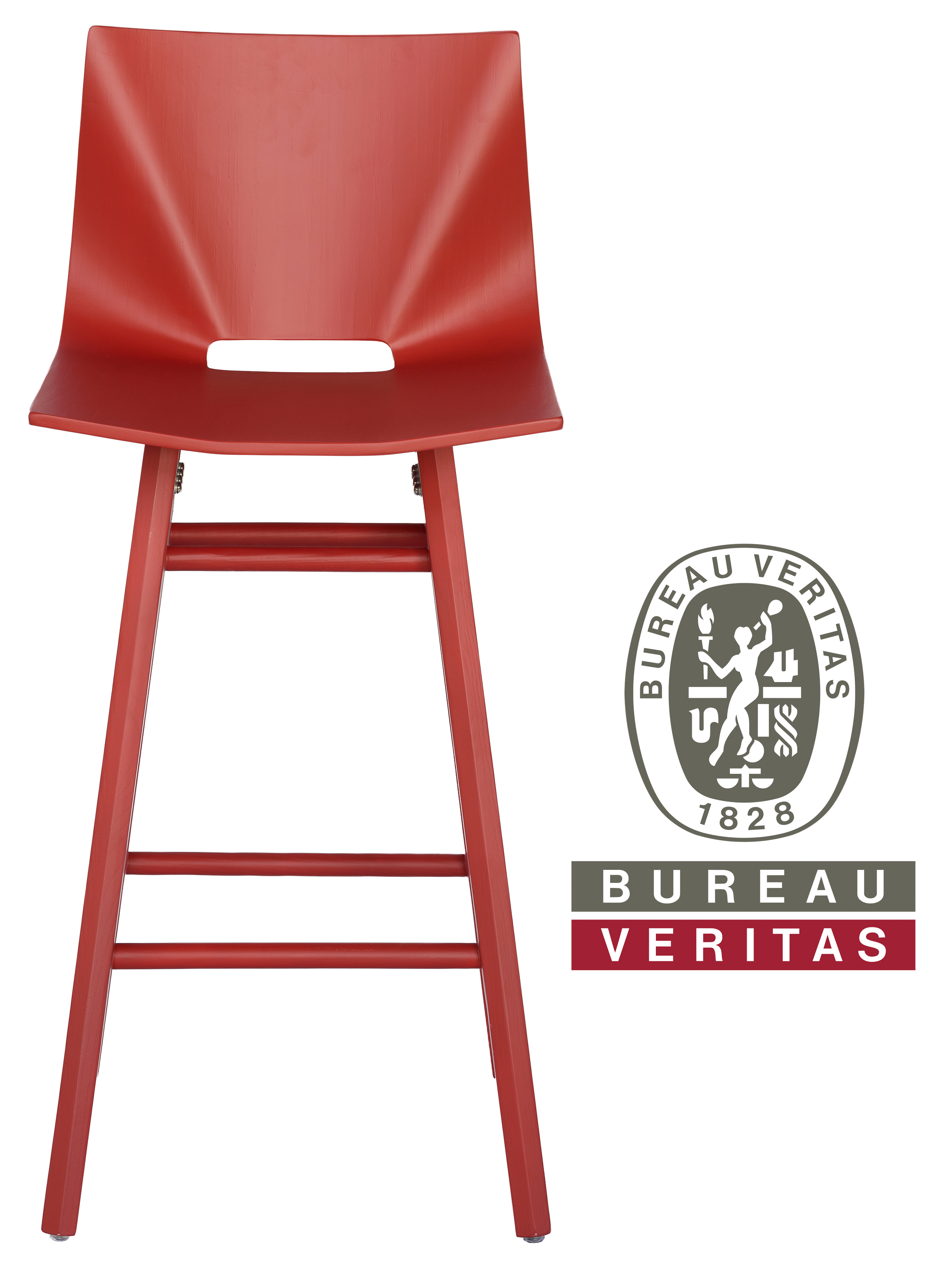 V Stool in Red