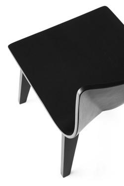V Wide Chair in black back