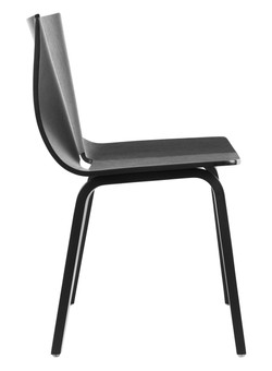 V Wide Chair in black