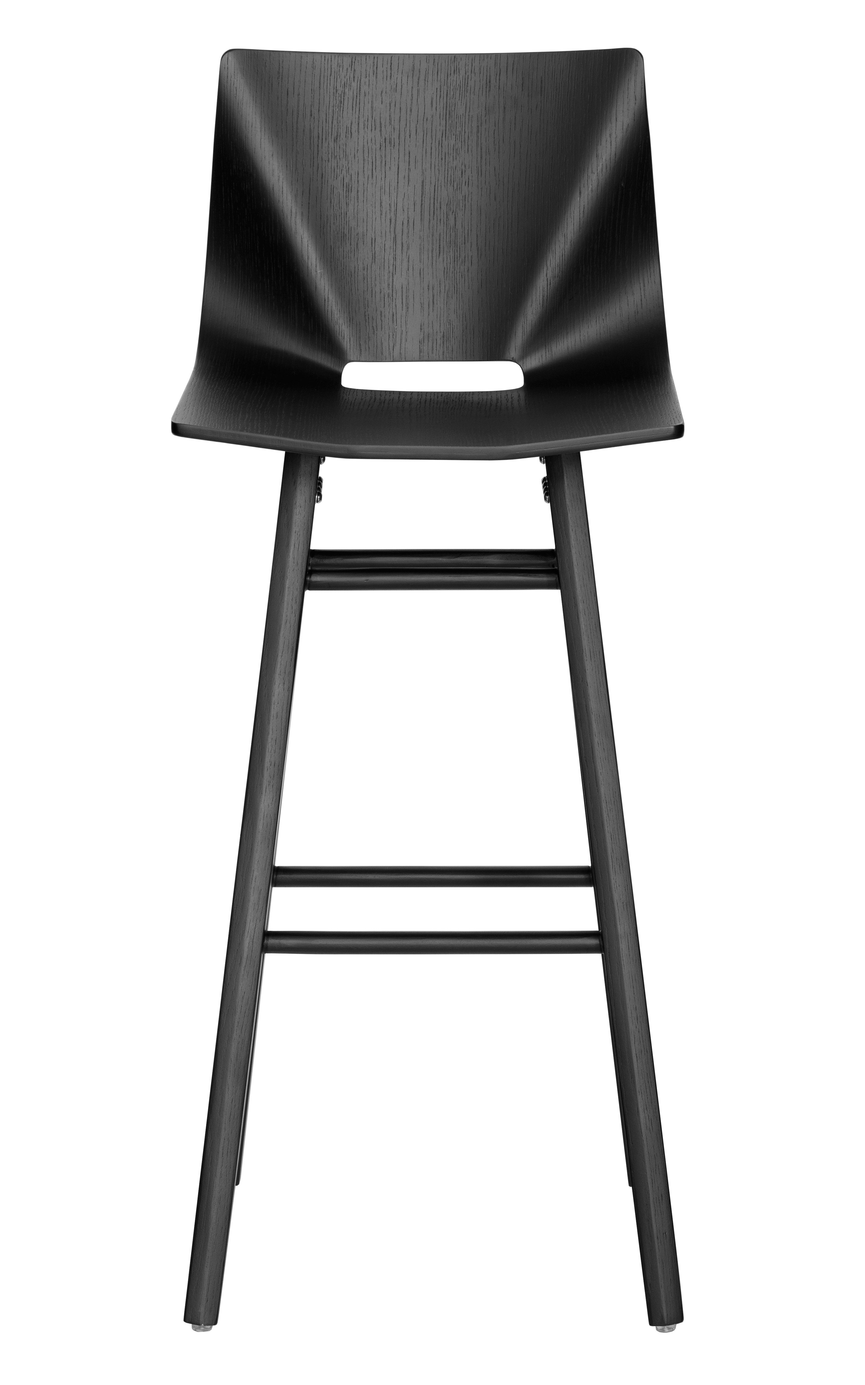 V Bar Stool black