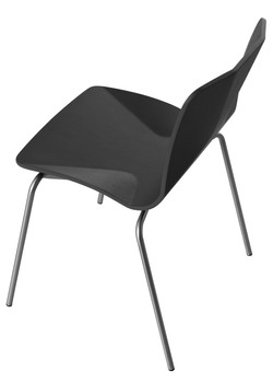 JC Stacking Chair in black