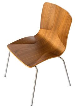 JC Stacking Chair in walnut