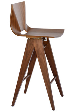 V Counter Stool in Walnut