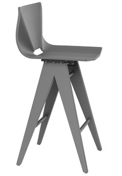 V Counter Stool in Grey
