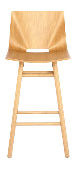 V Counter Stool in Oak