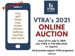 VTRA's 2021 Online Auction is live!