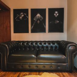Sofá no hall do quarto luxo superior