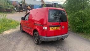 Volkswagen caddy van with tow bar £70 per week