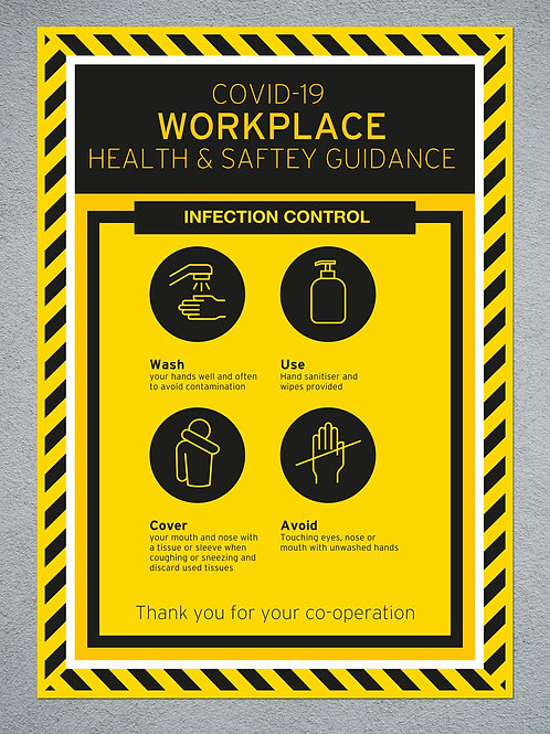 Work Place Health & Safety Sign - (various sizes & materials)