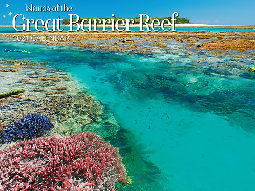 CALENDAR 2021 340X242MM ISLANDS GREAT BARRIER REEF