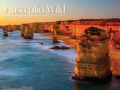 CALENDAR 2021 340X242MM WILD AUSTRALIA