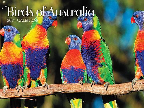CALENDAR 2021 340X242MM AUSTRALIAN BIRDS