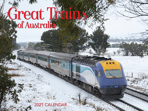 CALENDAR 2021 340X242MM GREAT TRAINS OF AUSTRALIA