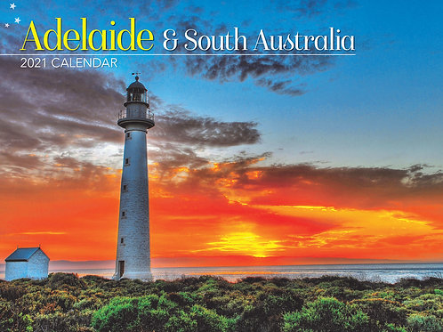 CALENDAR 2021 340X242MM ADELAIDE & SOUTH AUSTRALIA