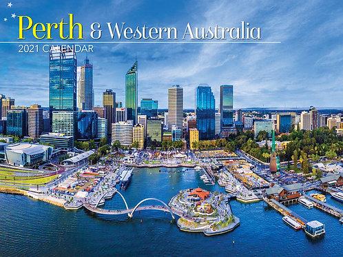 CALENDAR 2021 340X242MM PERTH & WESTERN AUSTRALIA