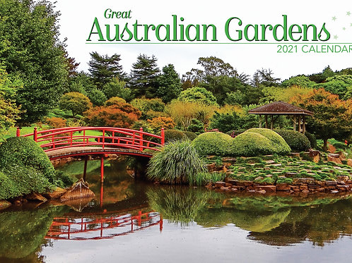 CALENDAR 2021 340X242MM GREAT AUSTRALIAN GARDENS