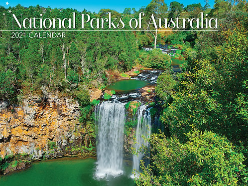 CALENDAR 2021 340X242MM NATIONAL PARKS OF AUST