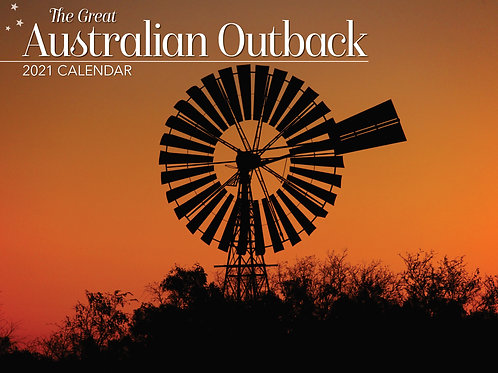 CALENDAR 2021 340X242MM GREAT AUSTRALIAN OUTBACK