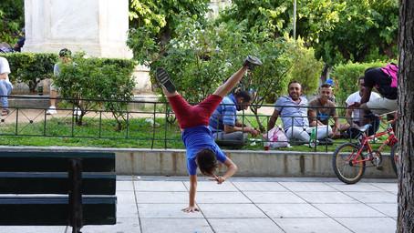 Der Junge auf dem Victoriaplatz