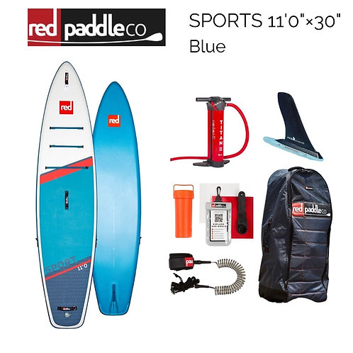 """red paddles SPORTS 11'0"""" × 30"""" Blue 2021年モデル"""