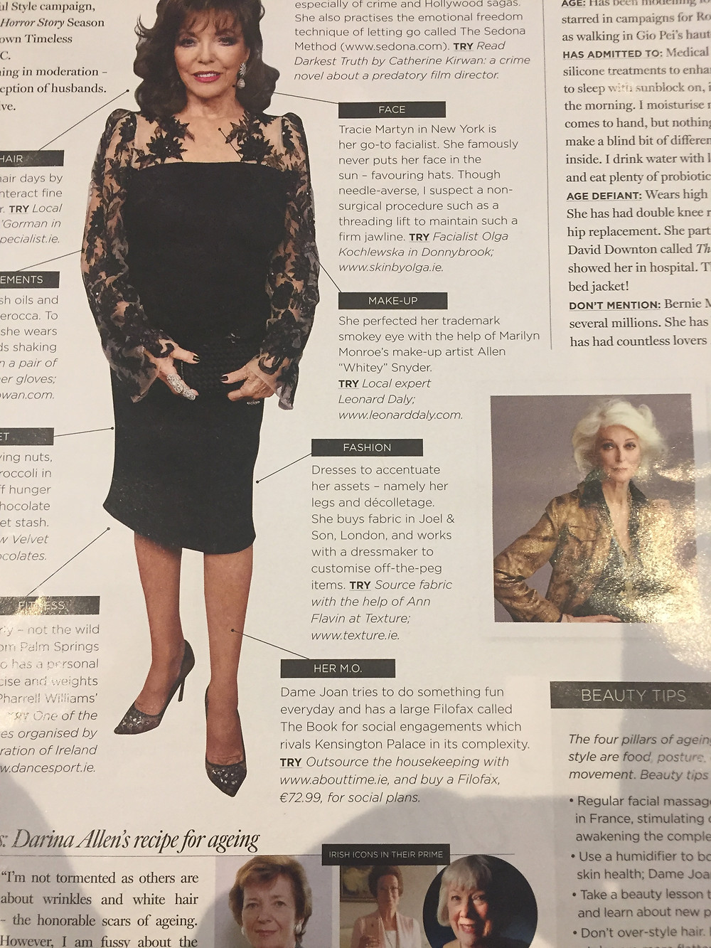 """""""Source fabric with the help of Ann Flavin at Texture"""" The Gloss Magazine"""