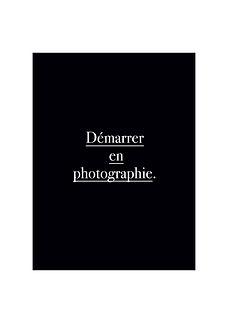 Formation d'apprentissage de la photographie