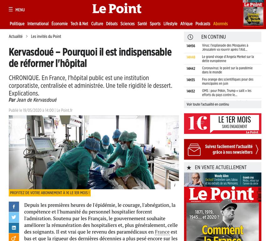 Publication web Le Point.