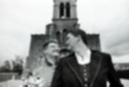 Photo de couple mariage en argentique.