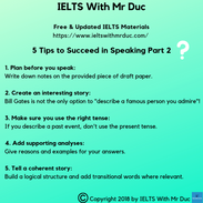 Tips to master the Speaking Part 2 section