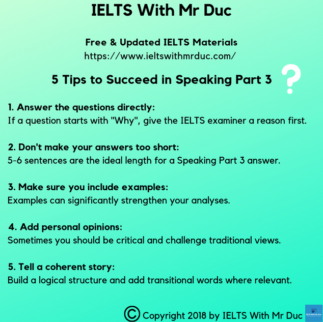Tips to successfully overcome Speaking Part 3 challenges