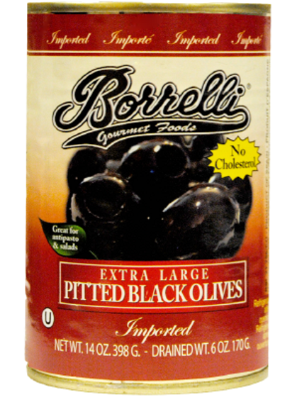 Extra Large Pitted Black Olives