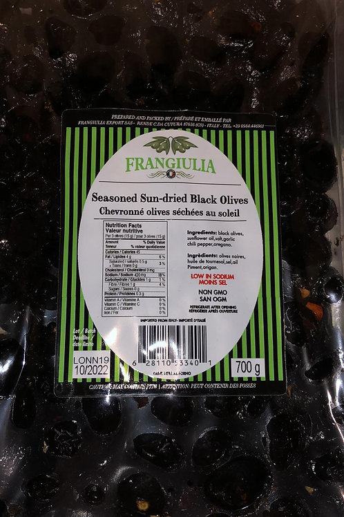 Seasoned Sun-Dried Black Olives