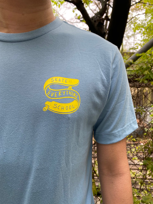 S.E.S Soft Blue Tee with Yellow Logo